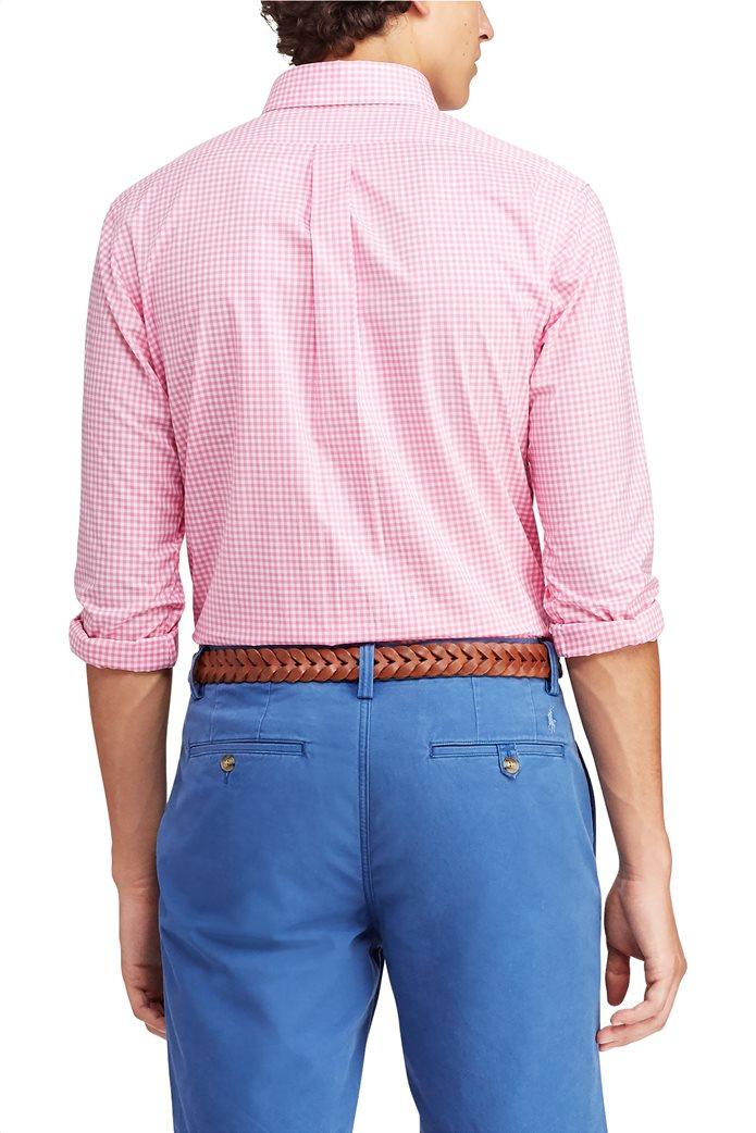 Polo Ralph Lauren ανδρικό πουκάμισο με μικροσχέδιο καρό Classic Fit Gingham 3