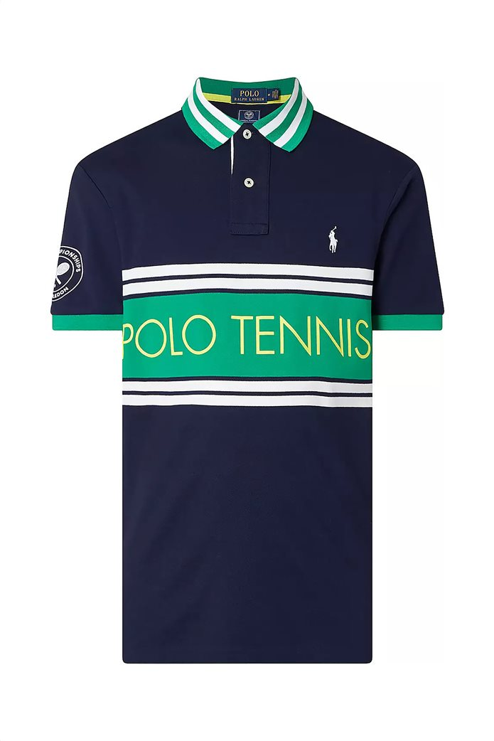 "Polo Ralph Lauren ανδρική πόλο μπλούζα ""Wimbledon"" Slim Fit 0"