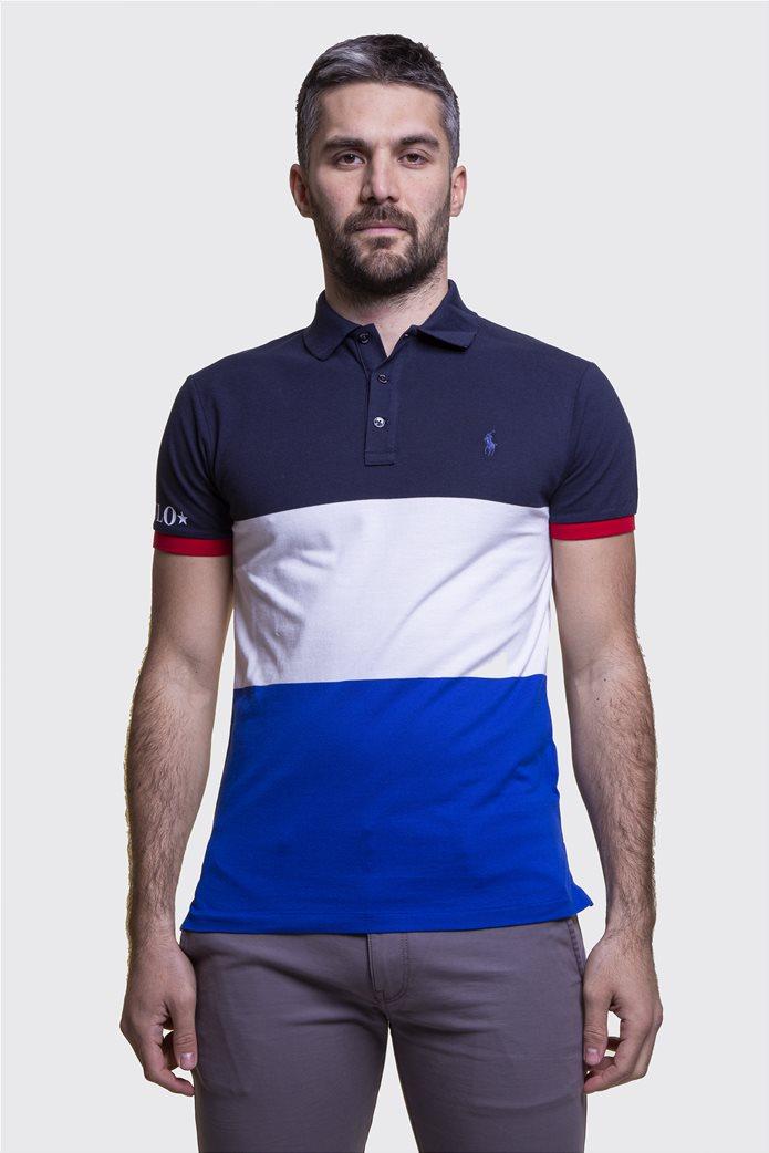 Polo Ralph Lauren ανδρική πόλο μπλούζα colourblocked Πολύχρωμο 1