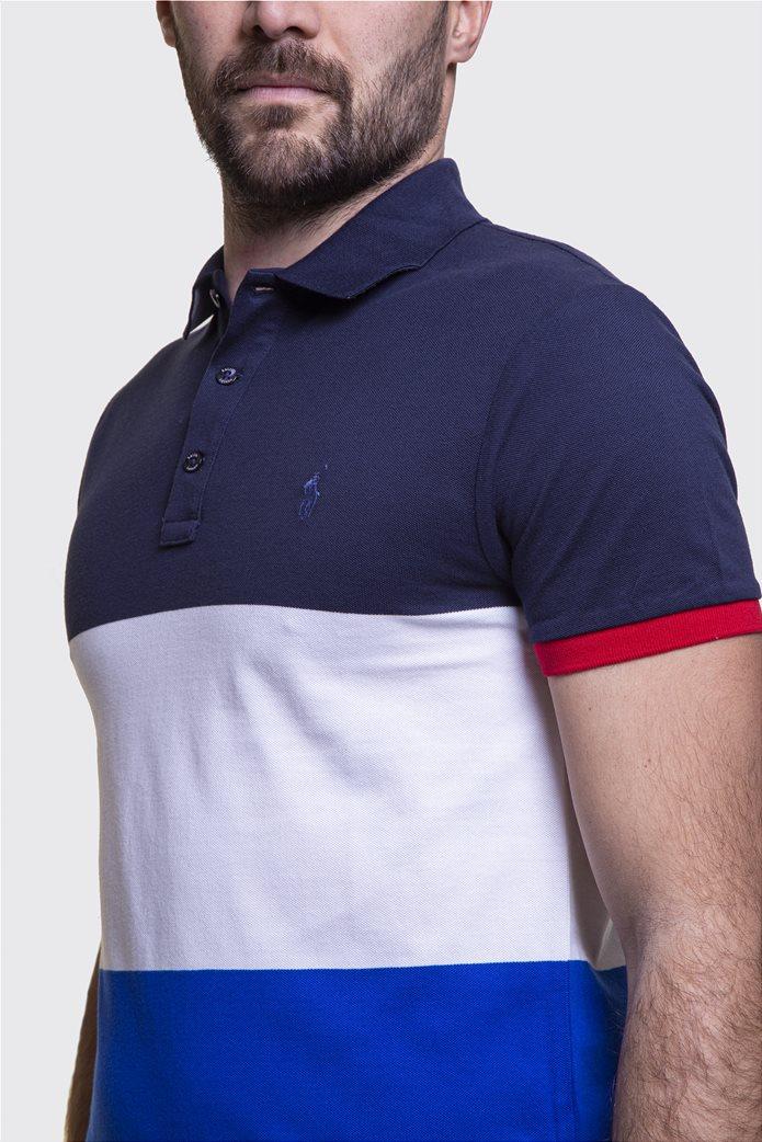 Polo Ralph Lauren ανδρική πόλο μπλούζα colourblocked Πολύχρωμο 2