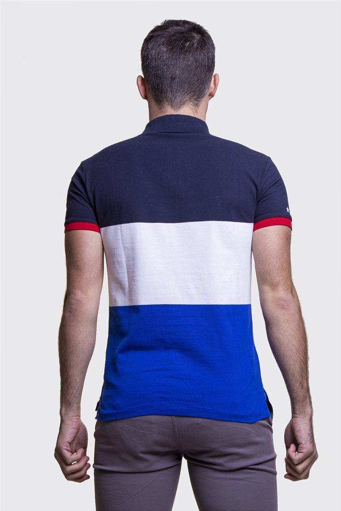 Polo Ralph Lauren ανδρική πόλο μπλούζα colourblocked Πολύχρωμο 3