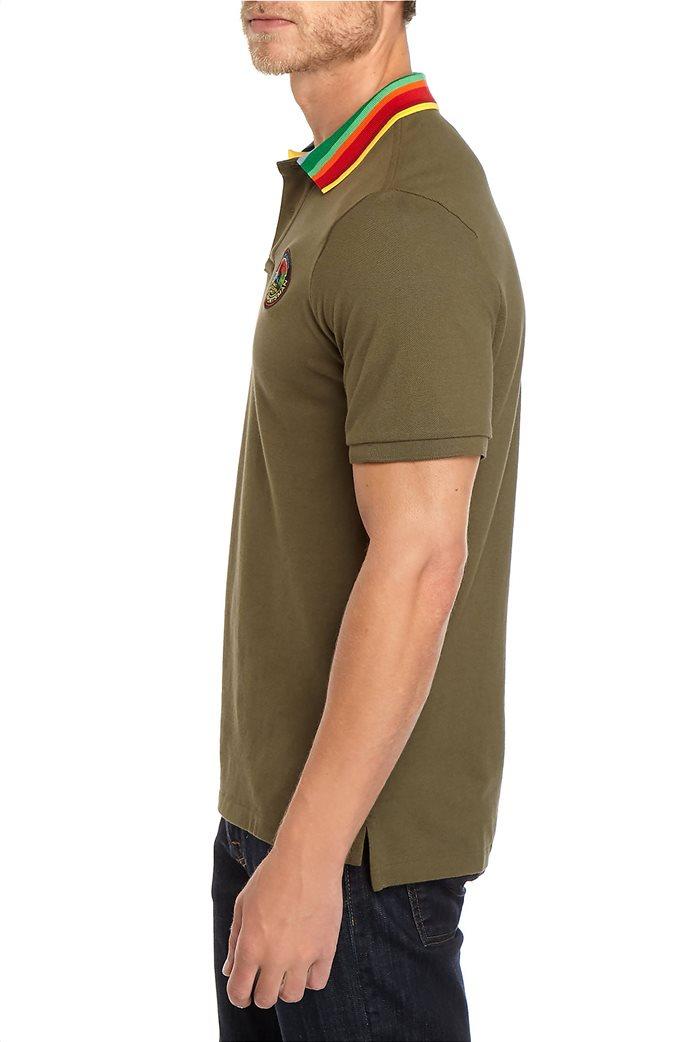 Polo Ralph Lauren ανδρική πόλο μπλούζα με ριγέ γιακά 2