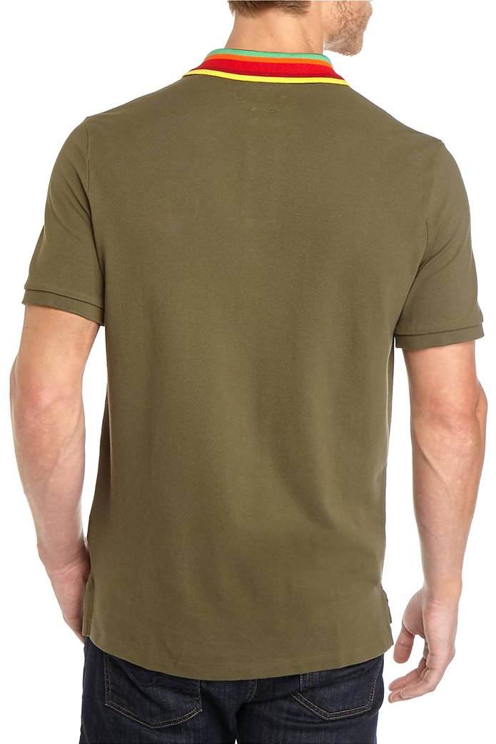 Polo Ralph Lauren ανδρική πόλο μπλούζα με ριγέ γιακά 3
