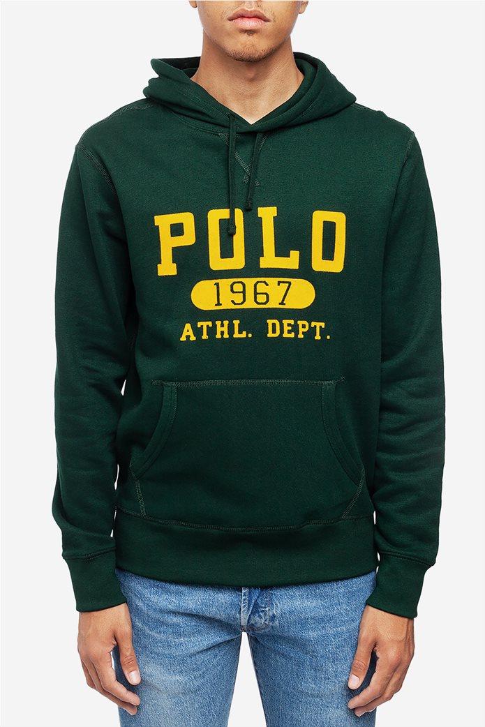Polo Ralph Lauren ανδρικό φούτερ με κουκούλα και logo print 0