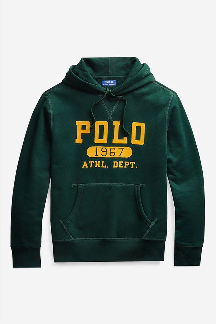 Polo Ralph Lauren ανδρικό φούτερ με κουκούλα και logo print 2