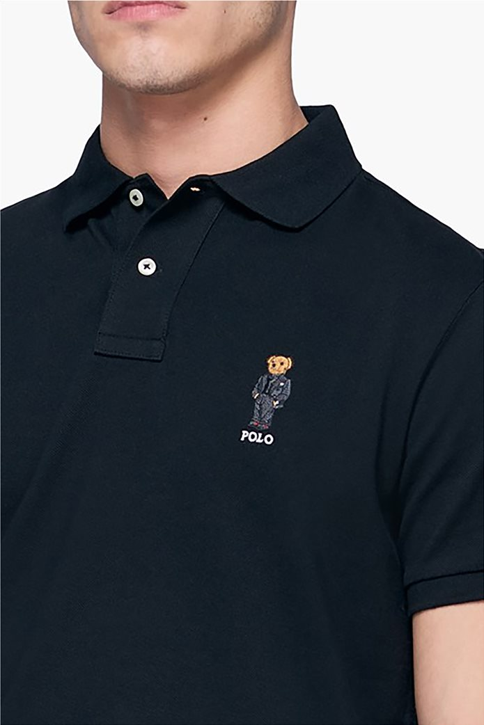 Polo Ralph Lauren ανδρική πόλο μπλούζα με κεντημένο αρκουδάκι 2