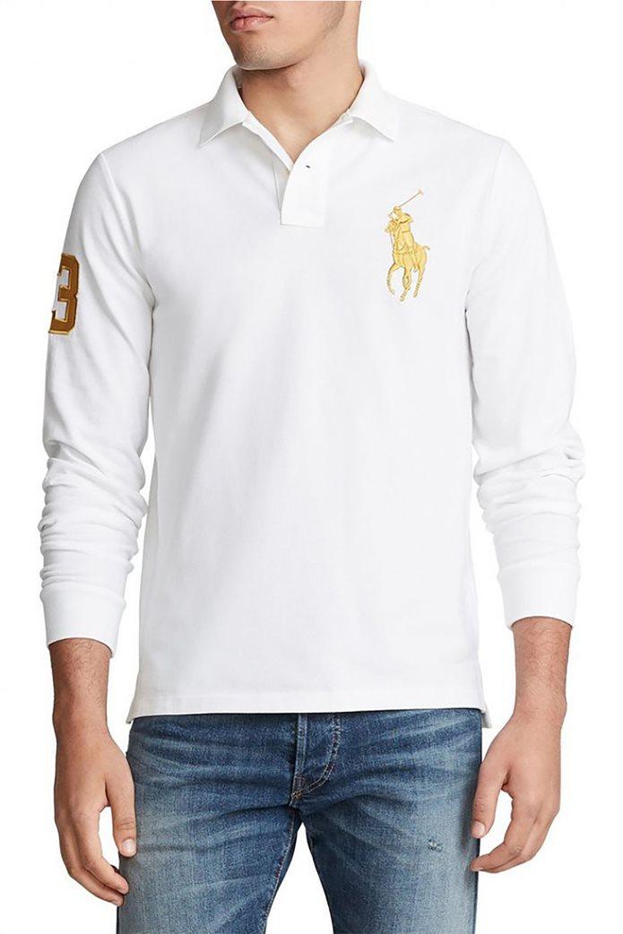 "Polo Ralph Lauren ανδρική μπλούζα πόλο με κεντημένο λογότυπο ""Custom Slim Fit"" 0"