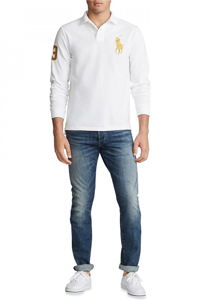 "Polo Ralph Lauren ανδρική μπλούζα πόλο με κεντημένο λογότυπο ""Custom Slim Fit"" 1"
