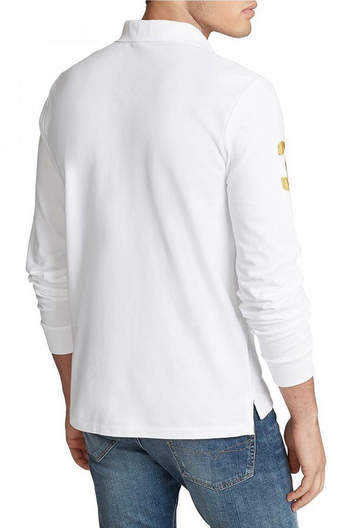 "Polo Ralph Lauren ανδρική μπλούζα πόλο με κεντημένο λογότυπο ""Custom Slim Fit"" 2"