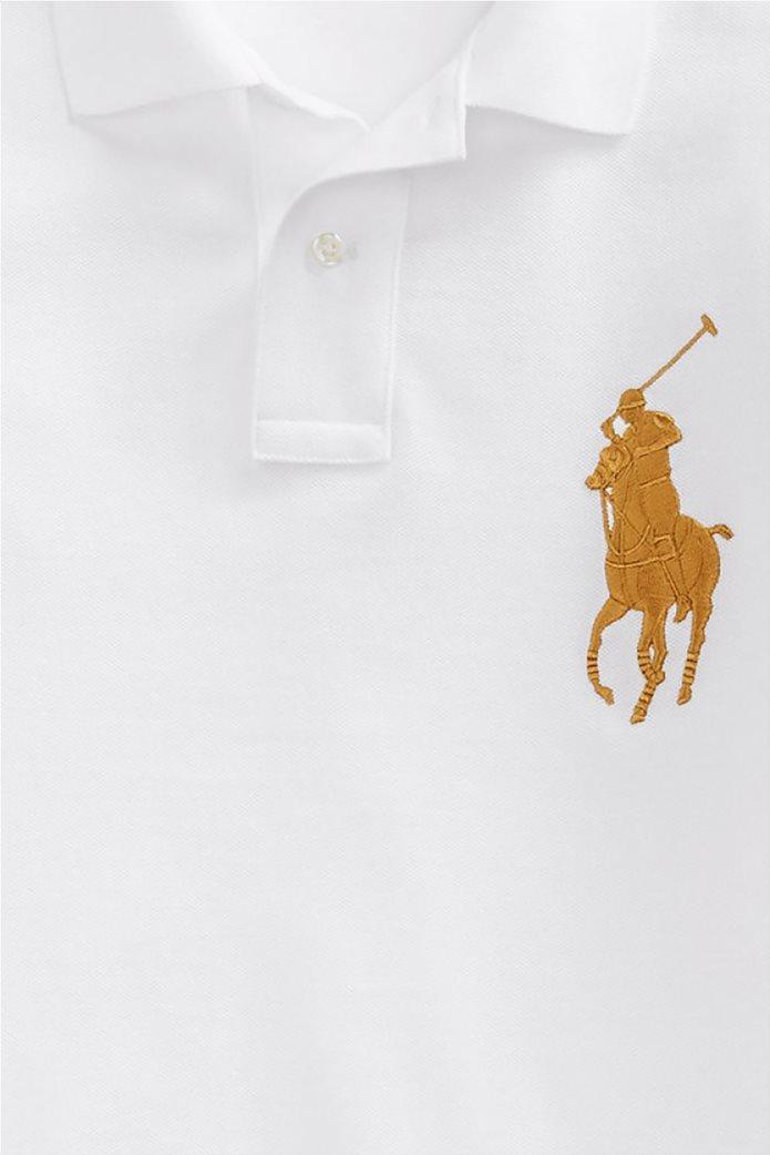 "Polo Ralph Lauren ανδρική μπλούζα πόλο με κεντημένο λογότυπο ""Custom Slim Fit"" 3"