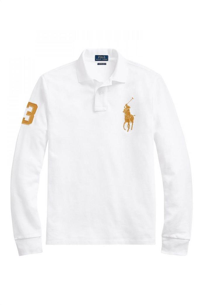 "Polo Ralph Lauren ανδρική μπλούζα πόλο με κεντημένο λογότυπο ""Custom Slim Fit"" 4"