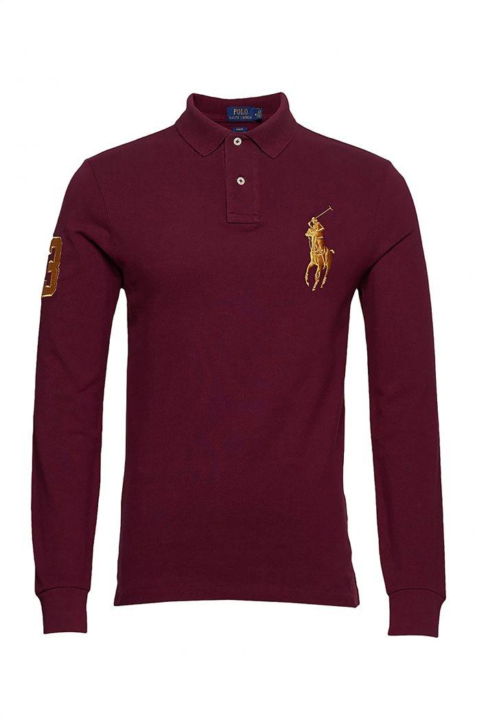 Polo Ralph Lauren ανδρική μπλούζα μακρυμάνικη πόλο με κεντημένο λογότυπο στο στήθος 0