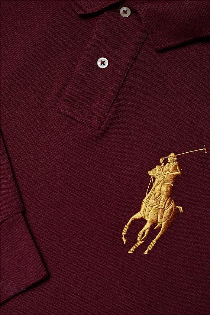 Polo Ralph Lauren ανδρική μπλούζα μακρυμάνικη πόλο με κεντημένο λογότυπο στο στήθος 1