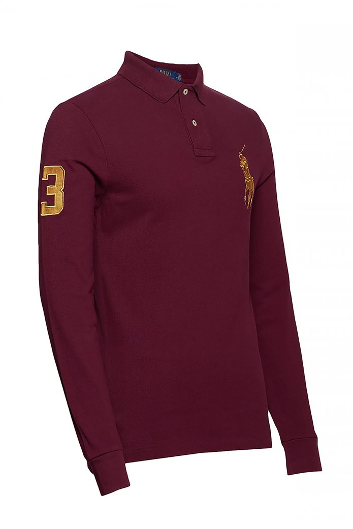 Polo Ralph Lauren ανδρική μπλούζα μακρυμάνικη πόλο με κεντημένο λογότυπο στο στήθος 2