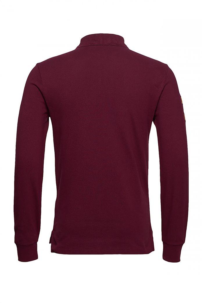Polo Ralph Lauren ανδρική μπλούζα μακρυμάνικη πόλο με κεντημένο λογότυπο στο στήθος 3