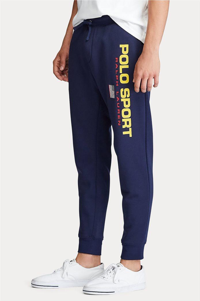Polo Ralph Lauren ανδρικό παντελόνι φόρμας με logo print 1