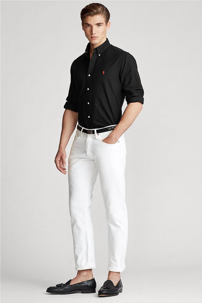 "Polo Ralph Lauren ανδρικό πουκάμισο με κεντημένο λογότυπο ""Custom Fit Oxford"" 1"