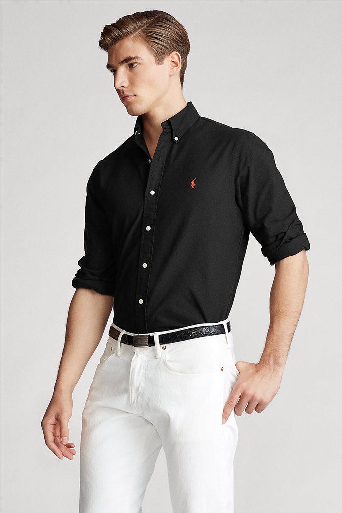 "Polo Ralph Lauren ανδρικό πουκάμισο με κεντημένο λογότυπο ""Custom Fit Oxford"" 2"