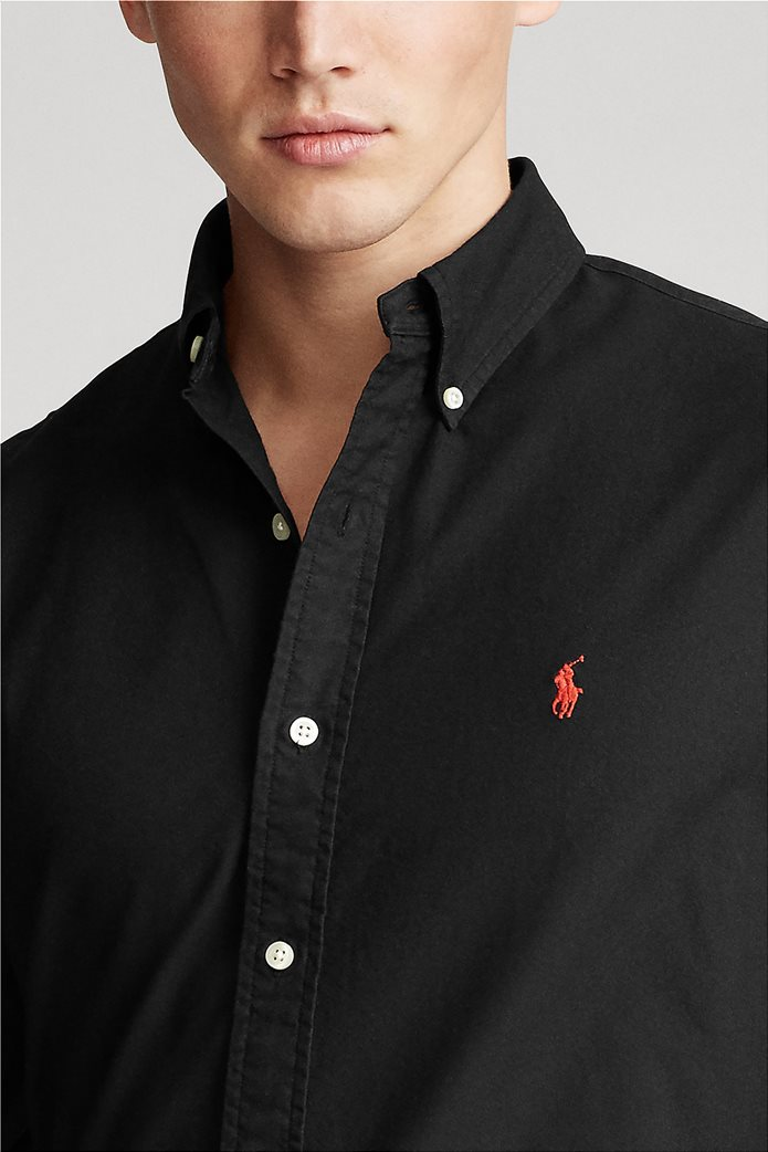 "Polo Ralph Lauren ανδρικό πουκάμισο με κεντημένο λογότυπο ""Custom Fit Oxford"" 4"
