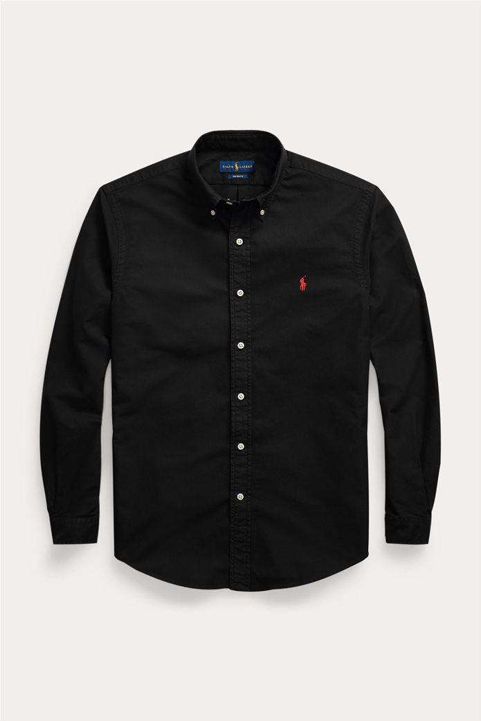 "Polo Ralph Lauren ανδρικό πουκάμισο με κεντημένο λογότυπο ""Custom Fit Oxford"" 5"