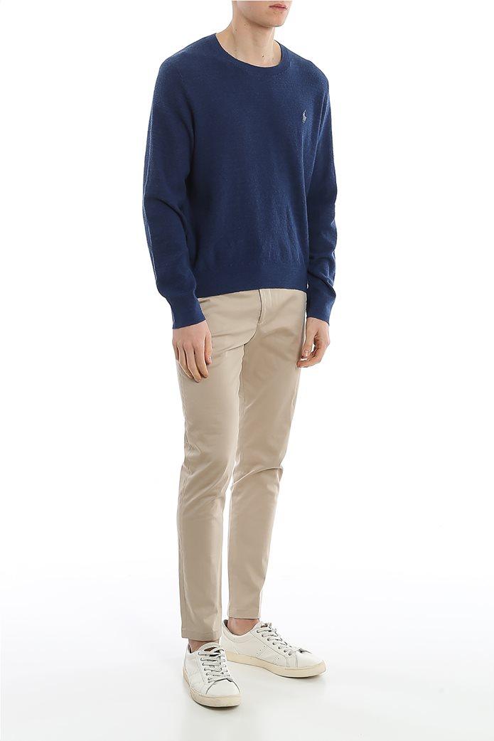 Polo Ralph Lauren ανδρική πλεκτή μπλούζα με κεντημένο logo Μπλε 1