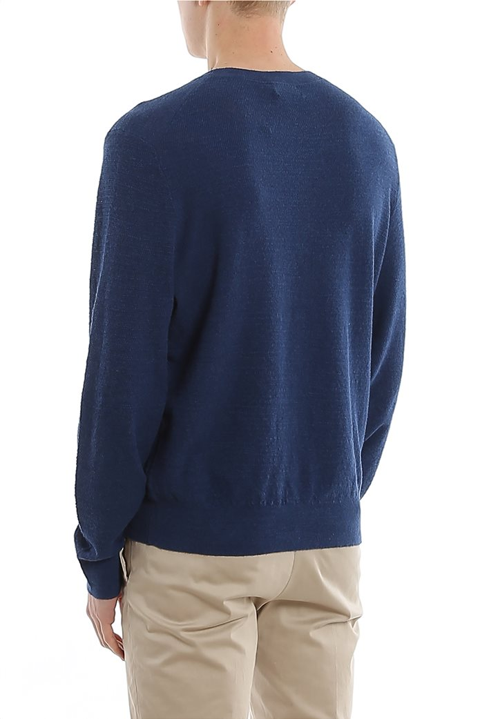 Polo Ralph Lauren ανδρική πλεκτή μπλούζα με κεντημένο logo Μπλε 2