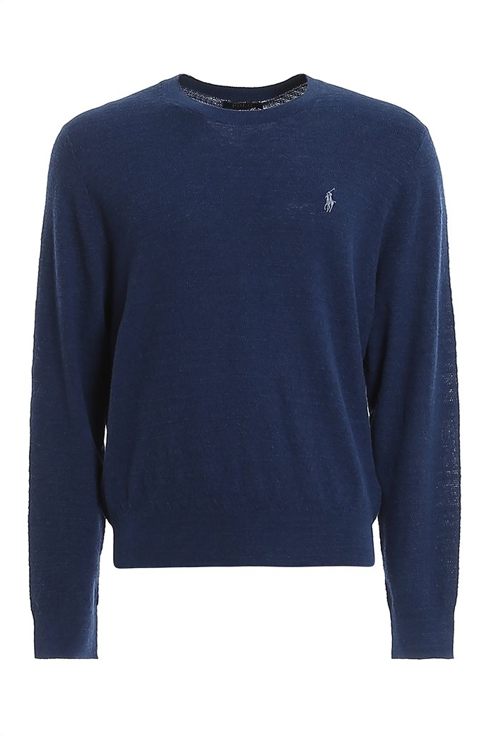 Polo Ralph Lauren ανδρική πλεκτή μπλούζα με κεντημένο logo Μπλε 3