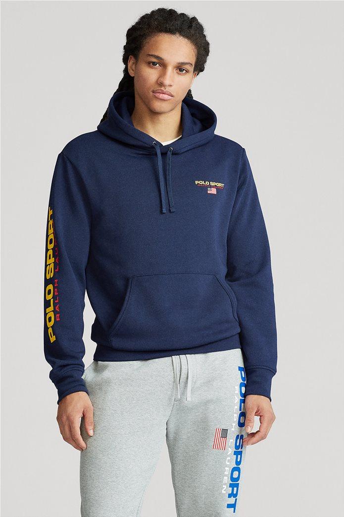 """Polo Ralph Lauren ανδρική μπλούζα φούτερ με κουκούλα """"Polo Sport"""" 0"""