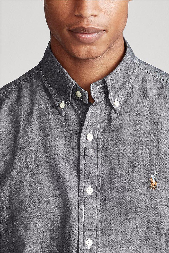 "Polo Ralph Lauren ανδρικό πουκάμισο με κεντημένο logo ""Slim Fit Chambray"" 1"