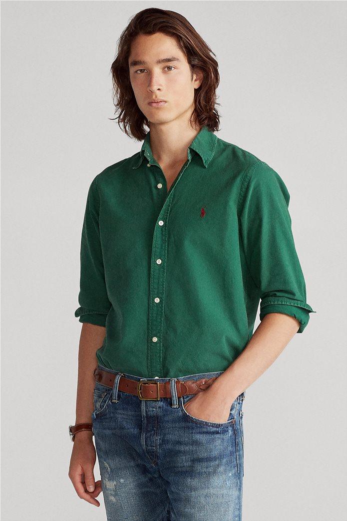 "Polo Ralph Lauren ανδρικό πουκάμισο με κεντημένο λογότυπο ""Custom Fit Oxford"" 0"