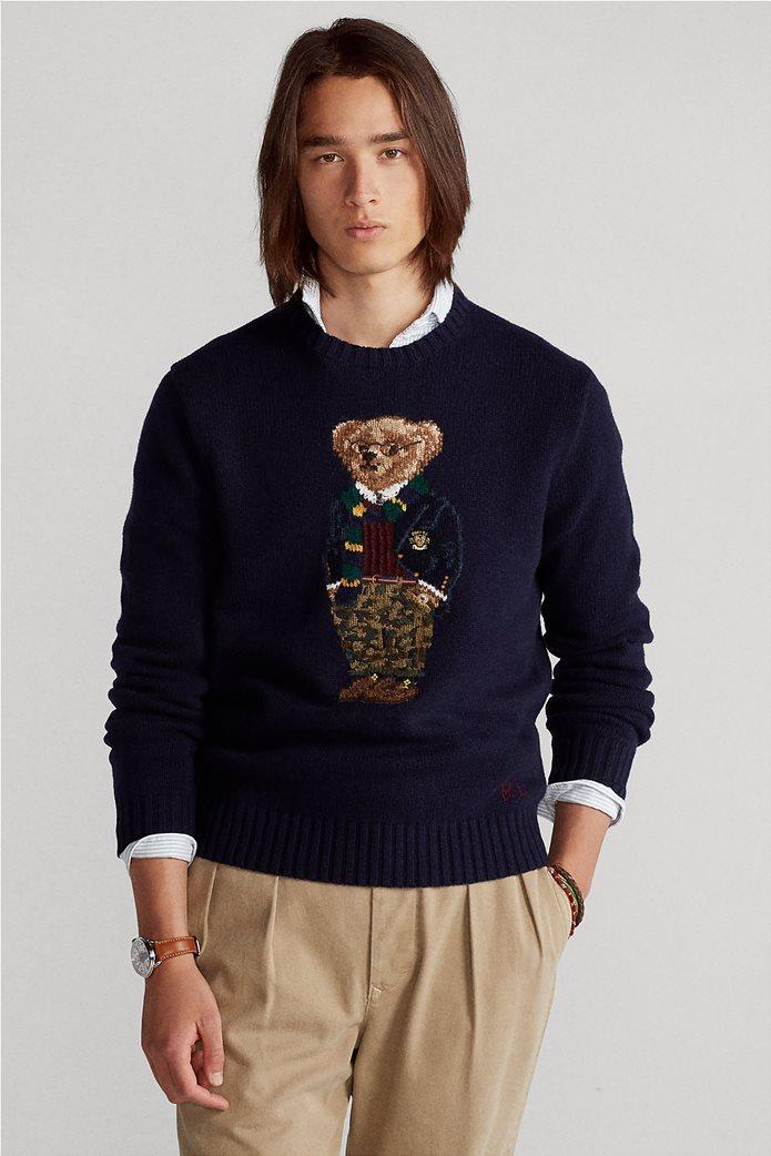 """Polo Ralph Lauren ανδρικό πουλόβερ με σχέδιο """"Preppy Polo Bear"""" 0"""