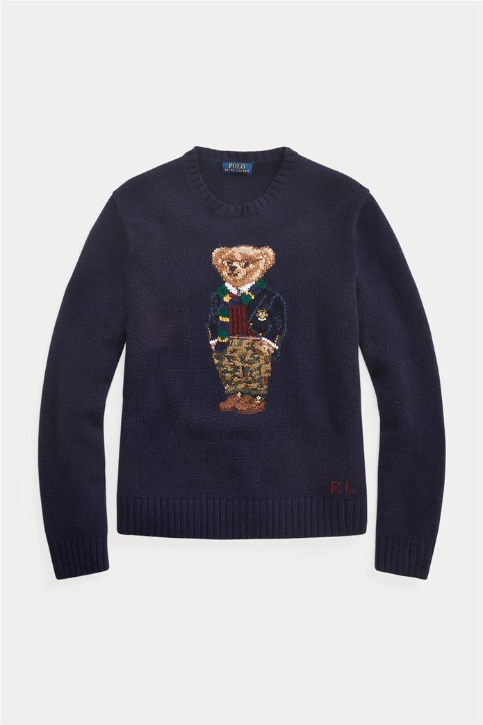 """Polo Ralph Lauren ανδρικό πουλόβερ με σχέδιο """"Preppy Polo Bear"""" 4"""