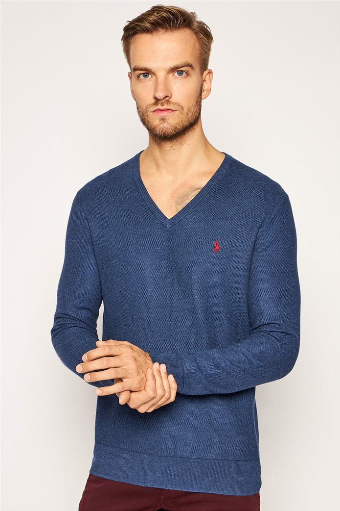 Polo Ralph Lauren ανδρική πλεκτή μάλλινη μπλούζα με V λαιμόκοψη 0