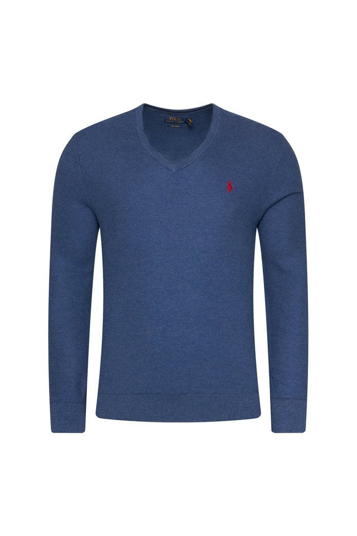 Polo Ralph Lauren ανδρική πλεκτή μάλλινη μπλούζα με V λαιμόκοψη 3
