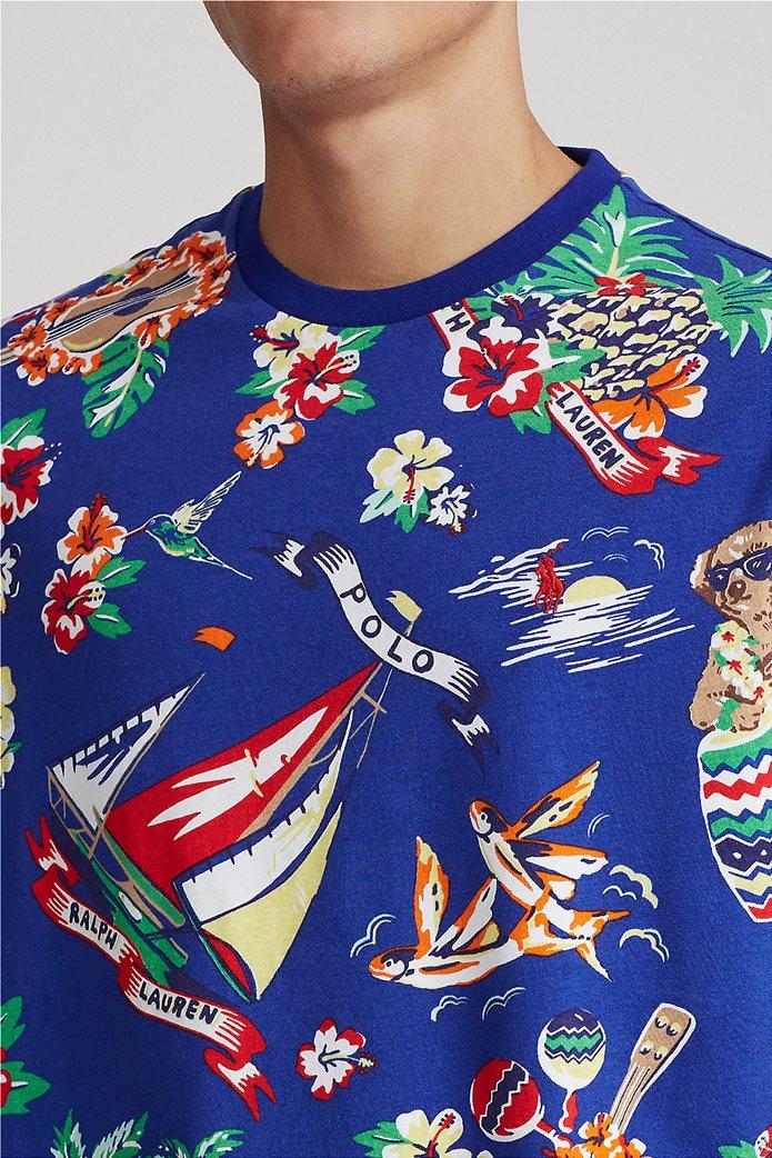 Polo Ralph Lauren ανδρικό T-shirt με all-over print ''Custom Slim Fit'' Μπλε Ηλεκτρίκ 1