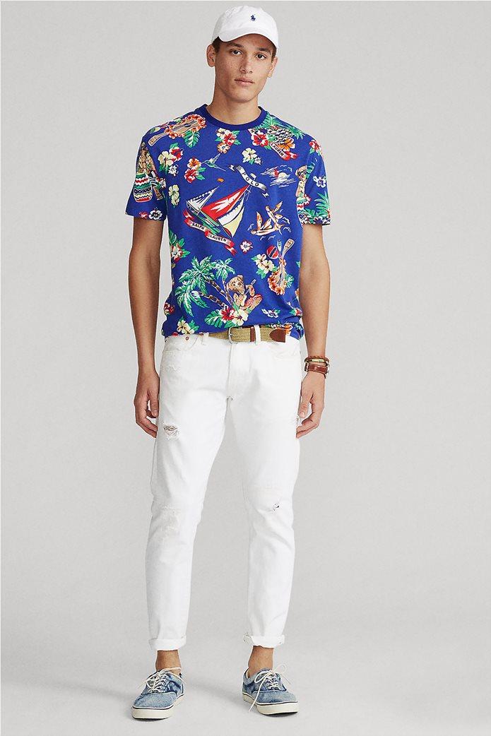 Polo Ralph Lauren ανδρικό T-shirt με all-over print ''Custom Slim Fit'' Μπλε Ηλεκτρίκ 2
