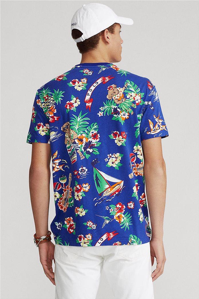 Polo Ralph Lauren ανδρικό T-shirt με all-over print ''Custom Slim Fit'' Μπλε Ηλεκτρίκ 3
