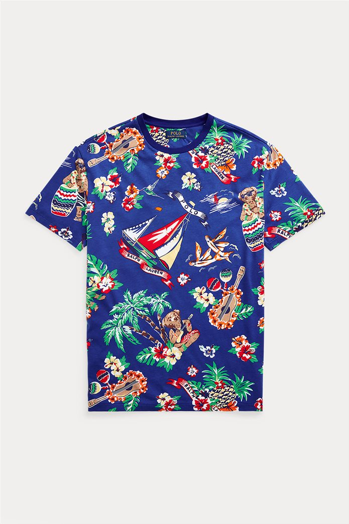 Polo Ralph Lauren ανδρικό T-shirt με all-over print ''Custom Slim Fit'' Μπλε Ηλεκτρίκ 4