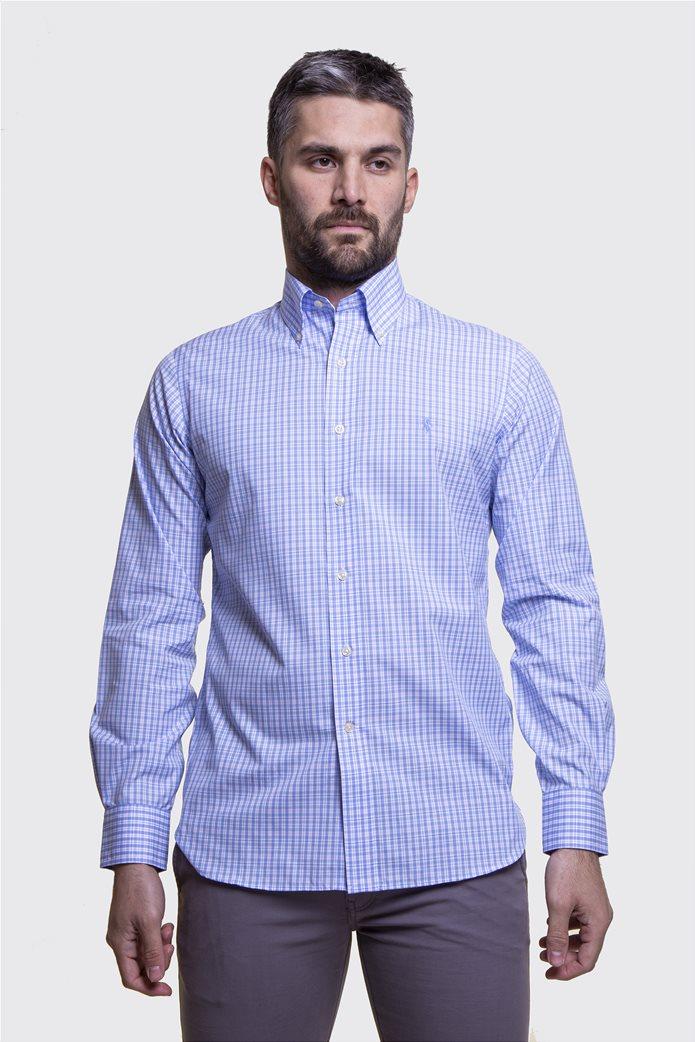 Polo Ralph Lauren ανδρικό πουκάμισο με μικροσχέδιο καρό Regular fit 0