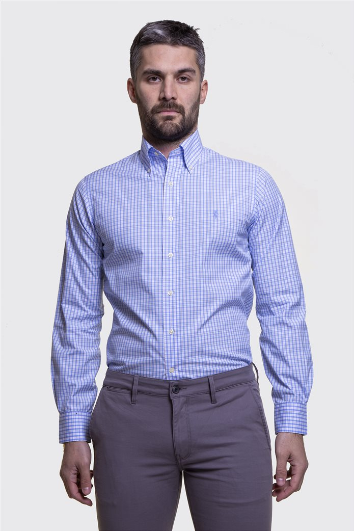 Polo Ralph Lauren ανδρικό πουκάμισο με μικροσχέδιο καρό Regular fit 1