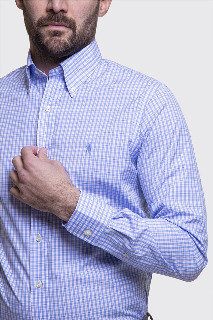Polo Ralph Lauren ανδρικό πουκάμισο με μικροσχέδιο καρό Regular fit 2