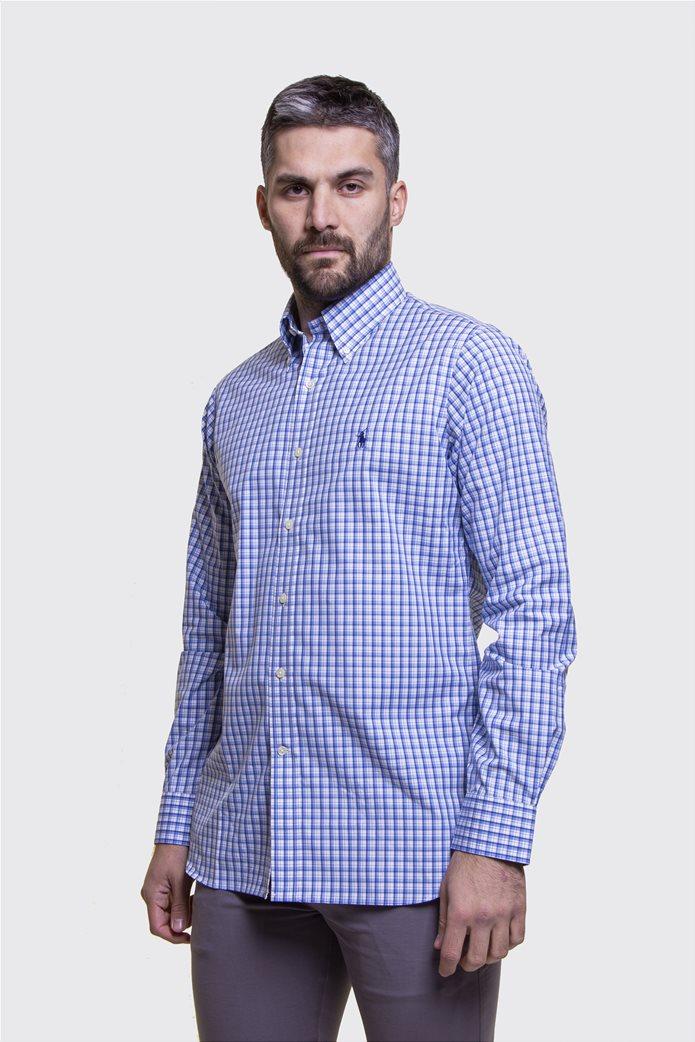 Polo Ralph Lauren ανδρικό πουκάμισο καρό με button down γιακά 0