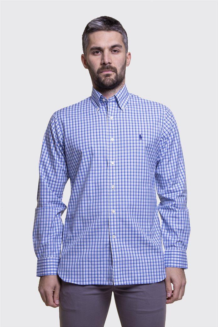 Polo Ralph Lauren ανδρικό πουκάμισο καρό με button down γιακά 1