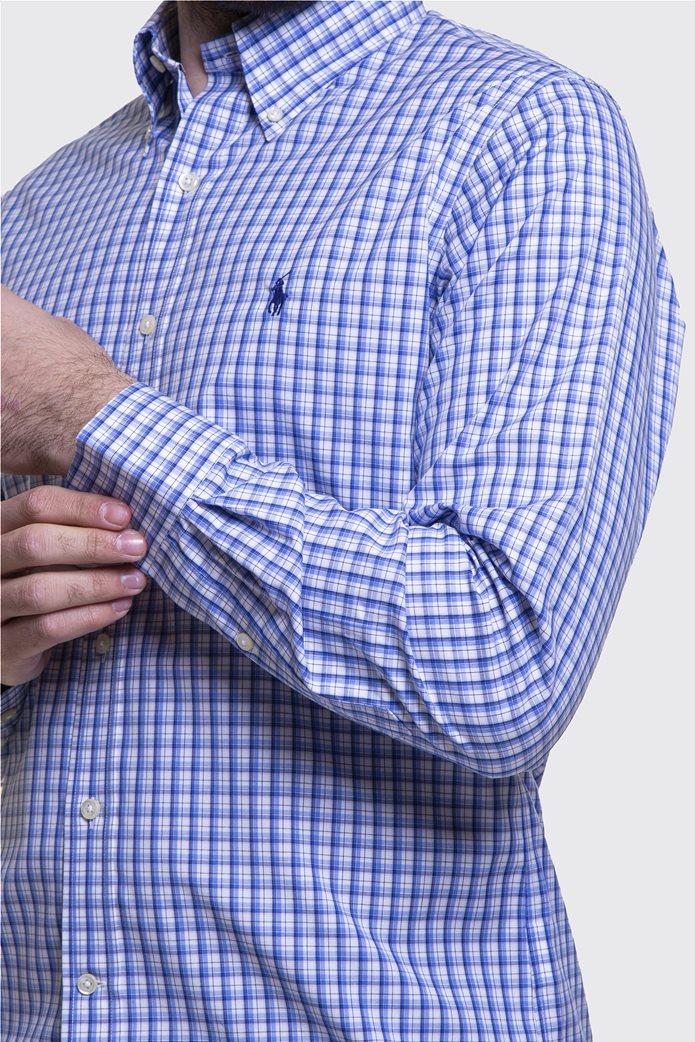 Polo Ralph Lauren ανδρικό πουκάμισο καρό με button down γιακά 2