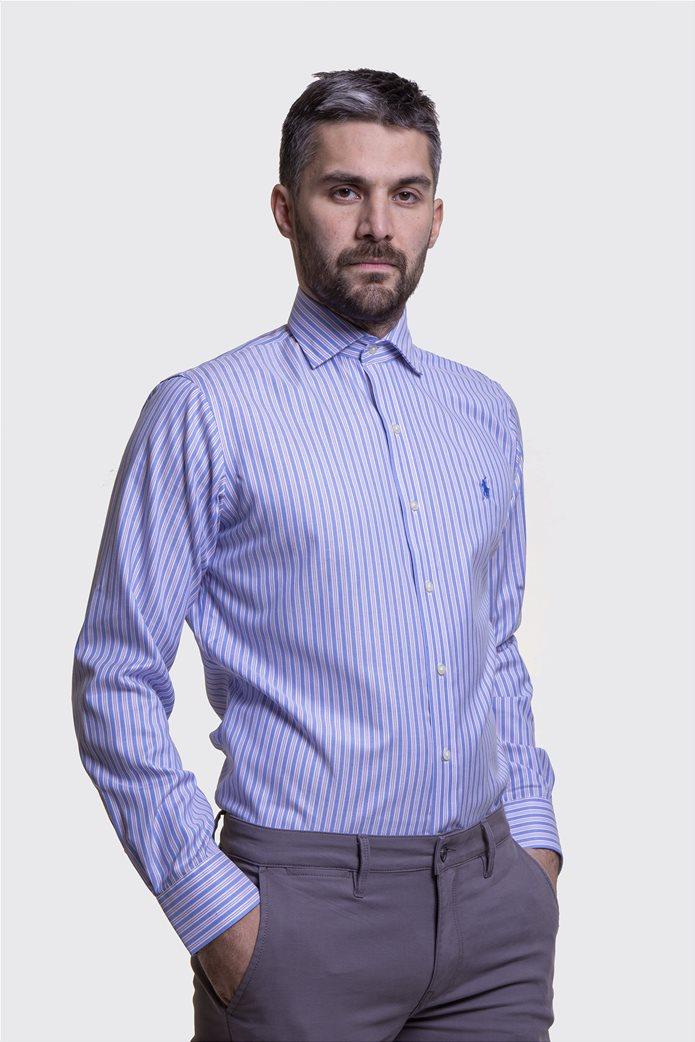 Polo Ralph Lauren ανδρικό πουκάμισο ριγέ Μπλε Σκούρο 0