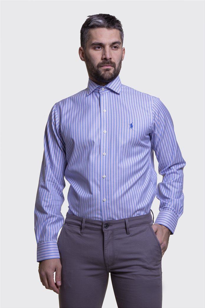 Polo Ralph Lauren ανδρικό πουκάμισο ριγέ Μπλε Σκούρο 1