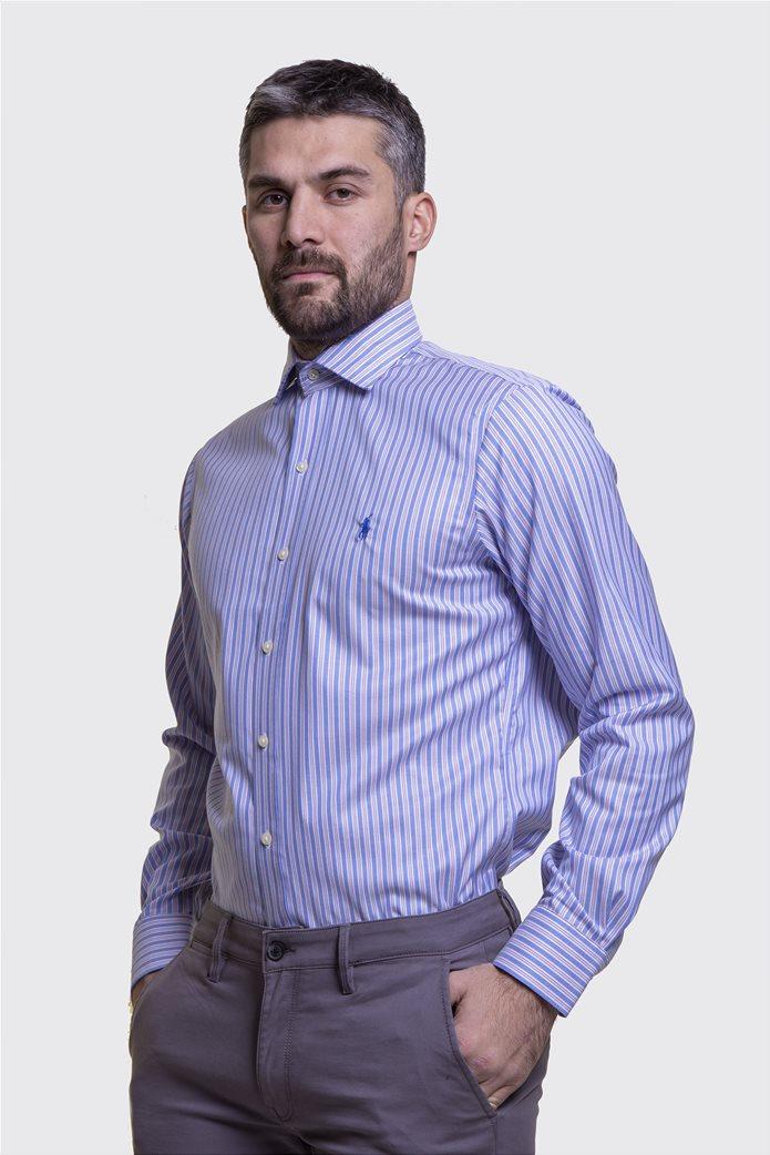 Polo Ralph Lauren ανδρικό πουκάμισο ριγέ Μπλε Σκούρο 2