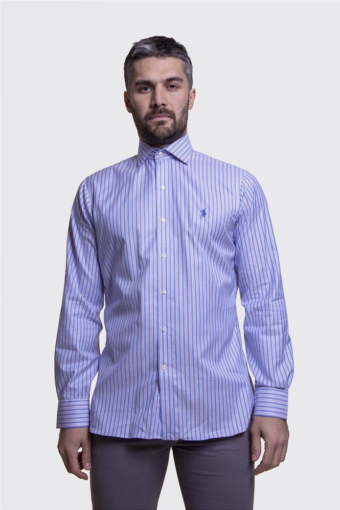Polo Ralph Lauren ανδρικό πουκάμισο ριγέ Μπλε Σκούρο 3