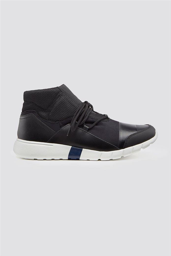 Trussardi Jeans ανδρικά μποτάκια sneakers High top running 0