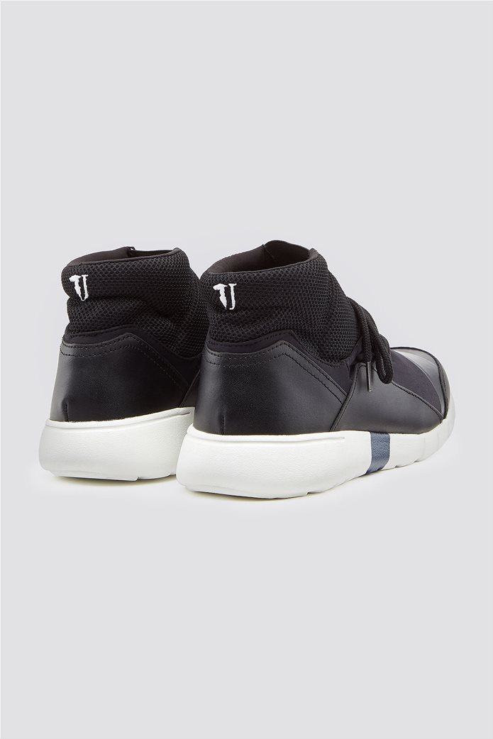 Trussardi Jeans ανδρικά μποτάκια sneakers High top running 2